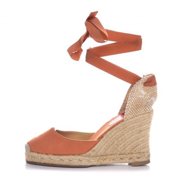 new product 252ba 8e76b SALE Christian Louboutin Espadrille Wedges